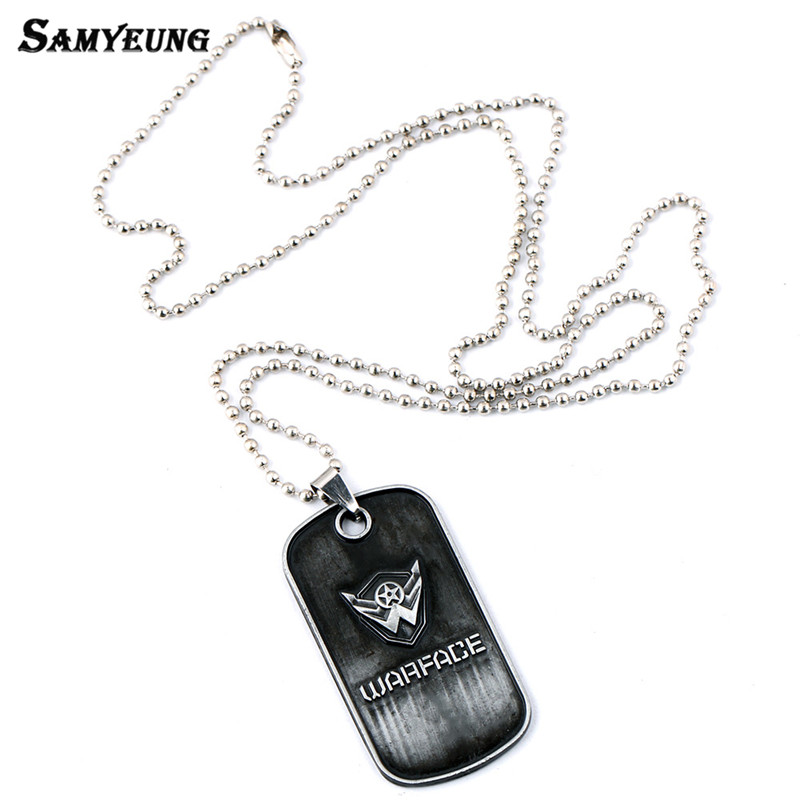 Samyeung Russian Game Warface KeyChains for Men Stainless Steel War Face Key Chain Boys Friendship Key Holder Keyring Porte Clef