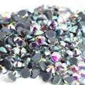 Ss6, ss8, ss10, ss16, ss20, ss30 Cristal AB Cor Top Quality DMC Iron On Hot fix Cristal Pedrinhas com Forte Cola Cinza