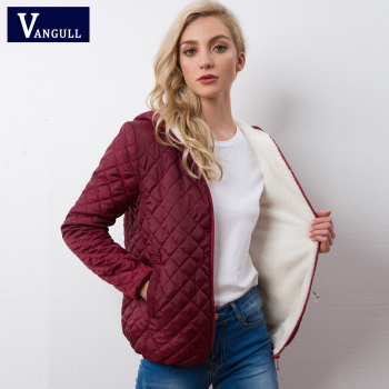Autumn 2018 New Parkas basic jackets Female Women Winter plus velvet lamb hooded Coats Cotton Winter Jacket Womens Outwear coat