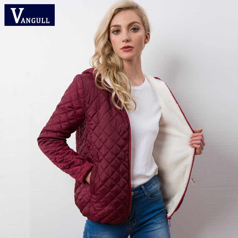 Herfst 2018 Nieuwe Parka basic jassen Vrouwelijke Vrouwen Winter plus fluwelen lam hooded Jassen Katoen Winter Jacket Womens Uitloper jas