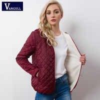 Autunno 2019 Nuovo Parka giacche di base Femminile Delle Donne di Inverno più velluto di agnello con cappuccio Cappotti del Cotone di Inverno del Rivestimento Delle Donne Outwear cappotto