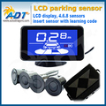 "Truck Car LCD Car Parking Sensor Kit With 4 Sensors ""Dang"" Reminder/Human Speaker Optional Bumper Guard Back-up/ Easy Install"