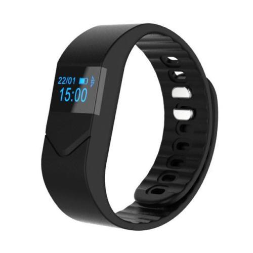Fitness Sports Smart Bracelet Bluetooth v4 0 IP68 Waterproof Heart Rate Monitor Black