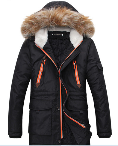 New Arrival Men Winter Fashion Fur Hooded Jackets Men Winter Coat Male Jacket Man Down Fur Coat Plus Size Male Winter Coat 2015 mens down padded coat fashion splice leather patchwork male down coat hooded winter jacket man fur collar plus size xxxxxl