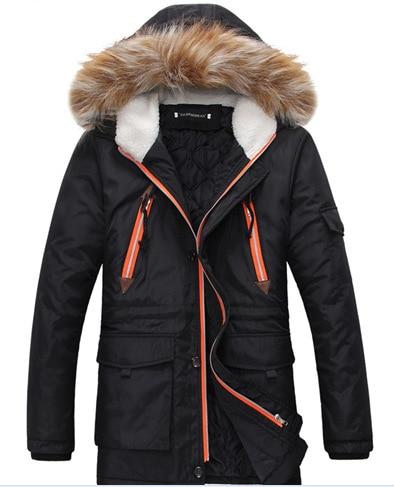 New Arrival Men Winter Fashion Fur Hooded Jackets Men Winter Coat Male Jacket Man Down Fur Coat Plus Size Male Winter Coat