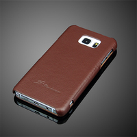 Genuine Leather Magnet Flip Case For Samsung Galaxy Note 5 Luxury Smart Stand Folio Cover Luxury