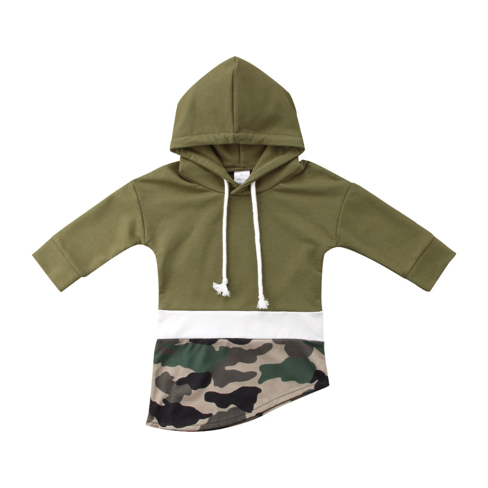 New Fashion Winter Toddler Kids Boy Camo Long Sleeve irregular Patchwork  Hooded Coat Jacket одежда на маленьких мальчиков