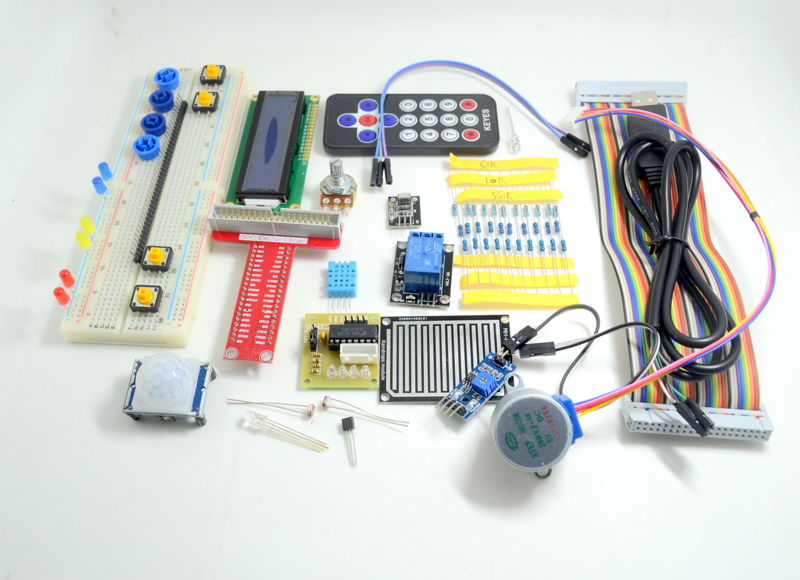 Raspberry Pi Raspberry B + Kit T- GPIO expansion board to send one meter long PL2303 Brush line