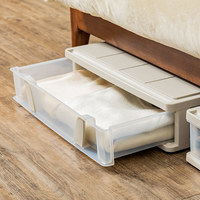 Large flat bed bottom storage box drawer type clothes quilt storage box plastic belt pulley bed storage box wx9281711