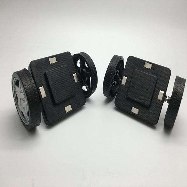 Magnetic Block Parts  2 pcs  Wheels  For Cars Building Block Construction DIY Bricks Educational Toys For Kids Gift