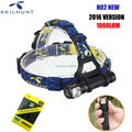 NEW Skilhunt H02 Cree XM-L2 Neutral / Cold White Flashlight Magnetic Outdoor Hiking Headlamp Headlight Carving Torch+haedband