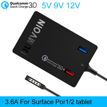 Microsoft Surface Pro 1,Pro 2 Charger,DUMVOIN 72W Adapter with QC3.0 USB Port Charger Power Supply for Surface Pro1,Pro2 Tablet