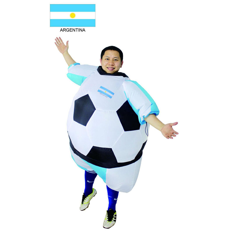 Foot ball Inflatable Costumes soccer Costumes Argentina Soccer ball Costume Argentina Halloween Costume For adults