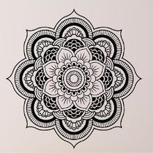 Hot Selling Wall Stickers Mandala Yoga Ornament Indian Buddha OM Symnol Decal Art Sticker Lotus Flower  Living Room DecorY-343