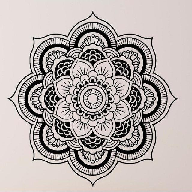 Hot Selling Wall Stickers Mandala Yoga Ornament Indian Buddha Om