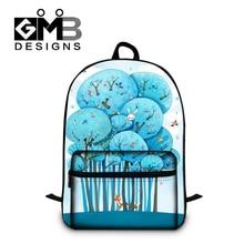 Dispalang симпатичные фокс печати школа bookbags для мальчики девочки прекрасный счастливое дерево мультфильм рюкзак для подростков 14 дюймов сумка для ноутбука