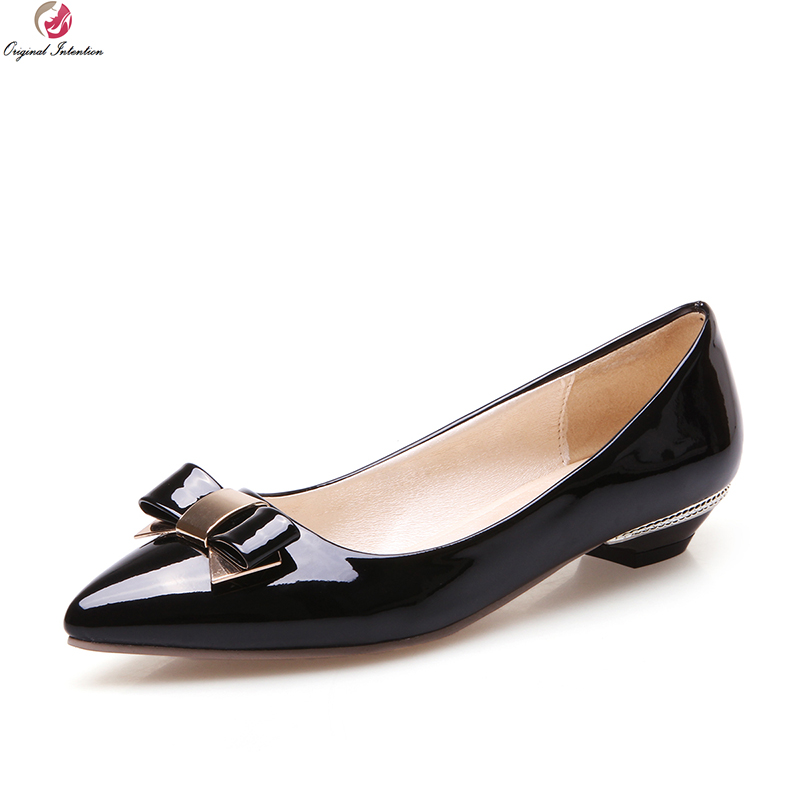 Original Intention 3 Colors Popular Women Flats Pointed Toe Causal Concise Flats Comfortable Shoes Woman Plus US Size 3-10