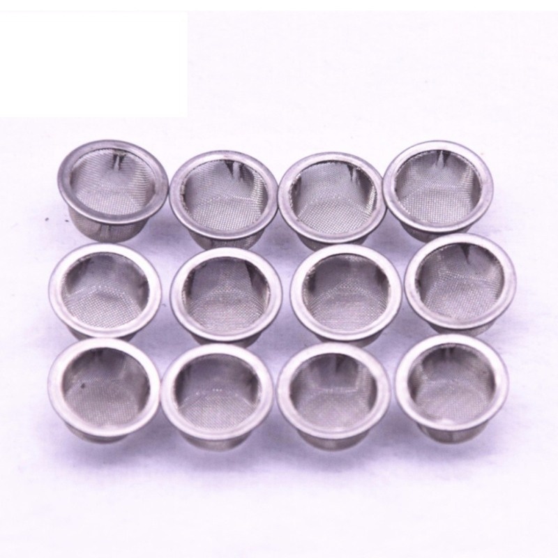 10 X Tobacco Smoking Pipe Metal Filter Screen Steel Mesh Concave Combustion 100% Original Snuff Boxes Collectibles