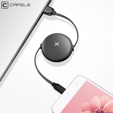 CAFELE type c usb Cable for samsung huawei xiaomi Candy colors Fast Charging Flat Retractable Usb cable Charger Data sync