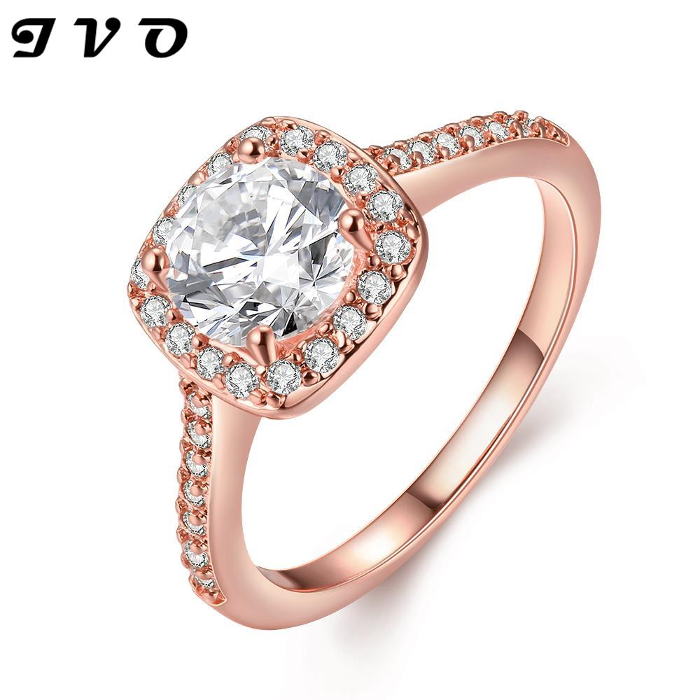 global hot gold color wedding engagement rings with aaa zircon fashion jewelry for women new design top quality