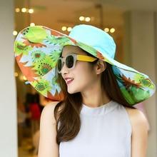 Colorful Cotton Large Brim Hat