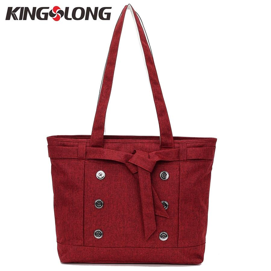 KINGSLONG New Nylon 14''Laptop Bag Briefcase for Women Large Capacity Casual Handbag Shoulder Messenger Bag 3 Colors KLW1131-5 цена 2017