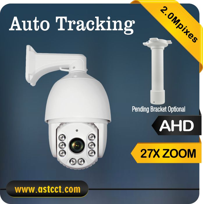 New product Full HD Aurotracking 27X PTZ Camera AHD 1080P Output IR High Speed Dome Camera 2MP  AHD PTZ auto tracking top high speed full teeth piston