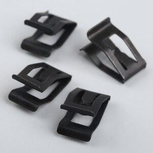 Image 3 - 10 sztuk samochodów przednia konsola Dash wykończenie deski rozdzielczej metalowy uchwyt czarny nit zaczep mocujący pasuje do ford mazda Audi Toyota