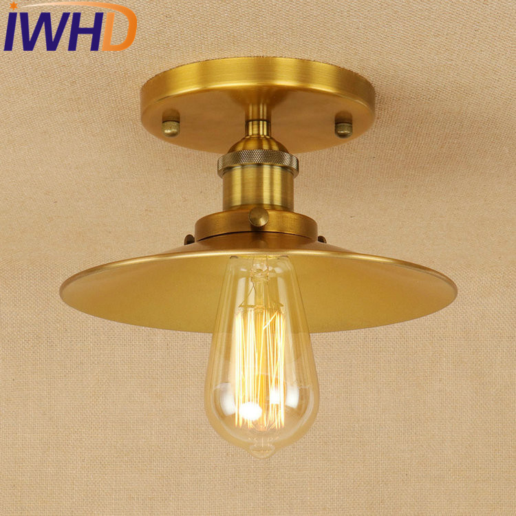 IWHD Edison Loft Style Iron Vintage Ceiling Light Fixtures Industrial Ceiling Lamp Antique Home Lighting Lustres De Sala tiffany mediterranean style peacock natural shell ceiling lights lustres night light led lamp floor bar home lighting