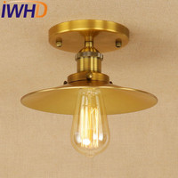 IWHD Edison Loft Style Iron Vintage Ceiling Light Fixtures Industrial Ceiling Lamp Antique Home Lighting Lustres De Sala