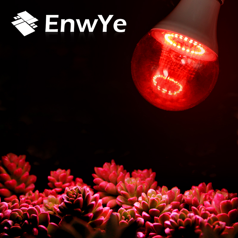 EnwYe Grow Light E27 220V 6W 12W Full Spectrum Indoor Plant Lamp For Plants Vegs Hydroponic System Plant 290 led plant grow light e27 200 led growing lights bulb full spectrum indoor plant lamp for plants vegs hydroponic system