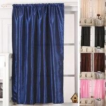 Poliéster Blackout Térmica Sólido puerta Cortina de Ventana de 130 cm x 190 cm Rosa, Azul profundo, café, negro, amarillento