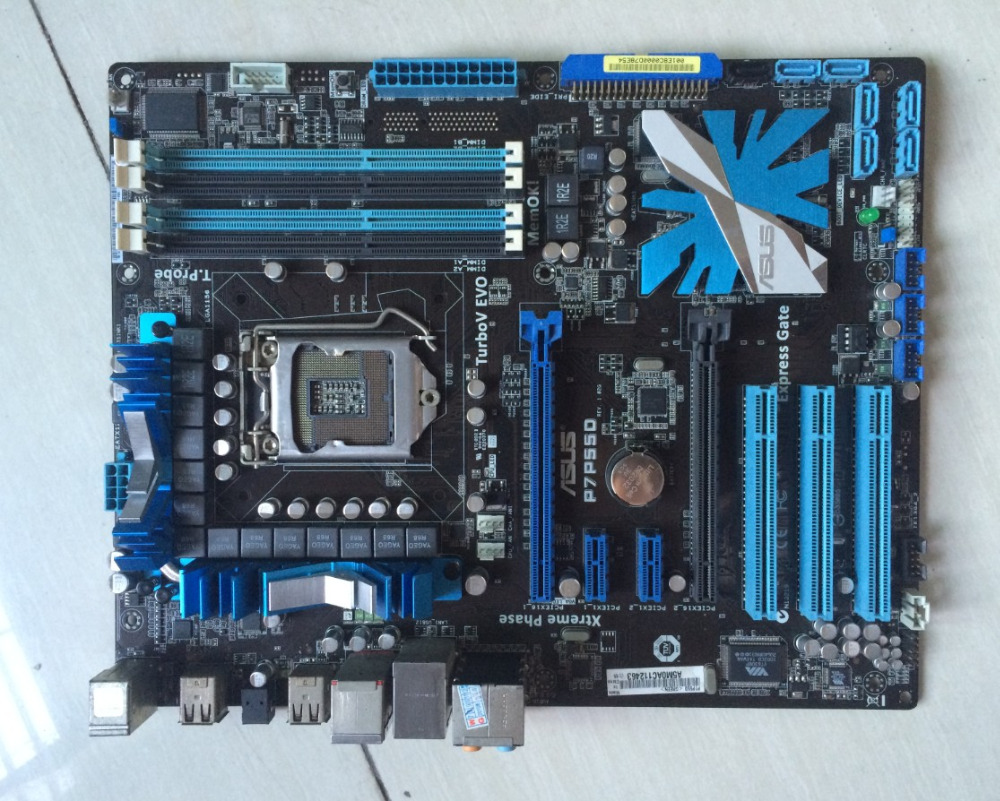 original motherboard for P7P55D LGA 1156 DDR3 for i5 i7 cpu 16GB USB2.0 SATA2 P55 Desktop motherboard Free shipping sata festplatte 1tb 7 2k sata2 3 5 wd1000fyps