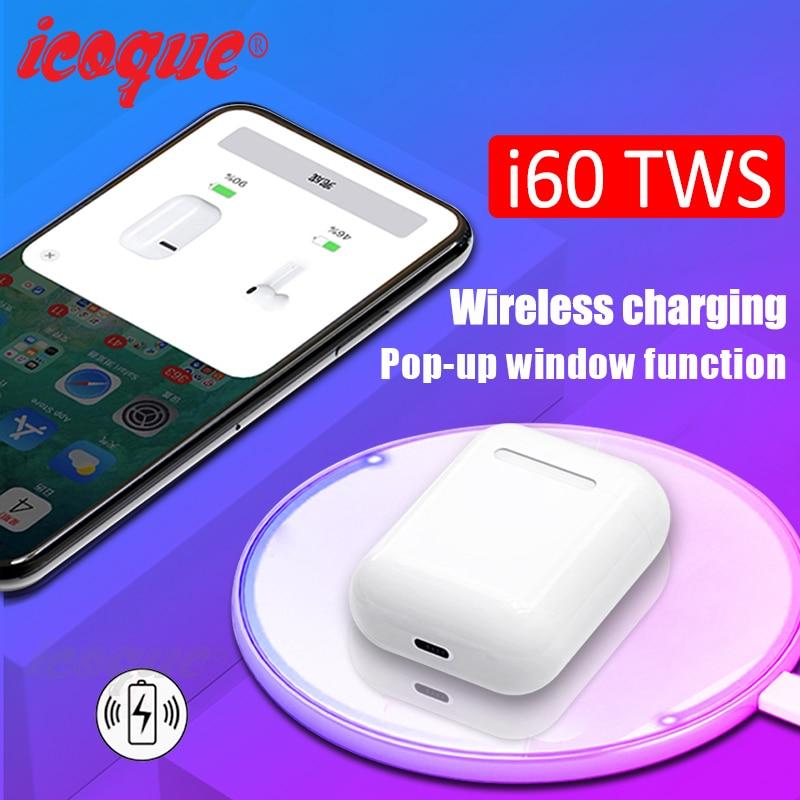 i60 TWS Pop Up 1:1 Wireless Bluetooth Earphone Wireless Charging W1 Chip Bass Headphones Wireless Headset PK i12 i20 i10 i30 TWSi60 TWS Pop Up 1:1 Wireless Bluetooth Earphone Wireless Charging W1 Chip Bass Headphones Wireless Headset PK i12 i20 i10 i30 TWS