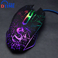 Brand Wired Optical Lights USB PC Computer Laptop Games Gamer Game Gaming Mouse Mice for Dota2 LOL Bloody Fare deathadder Raton