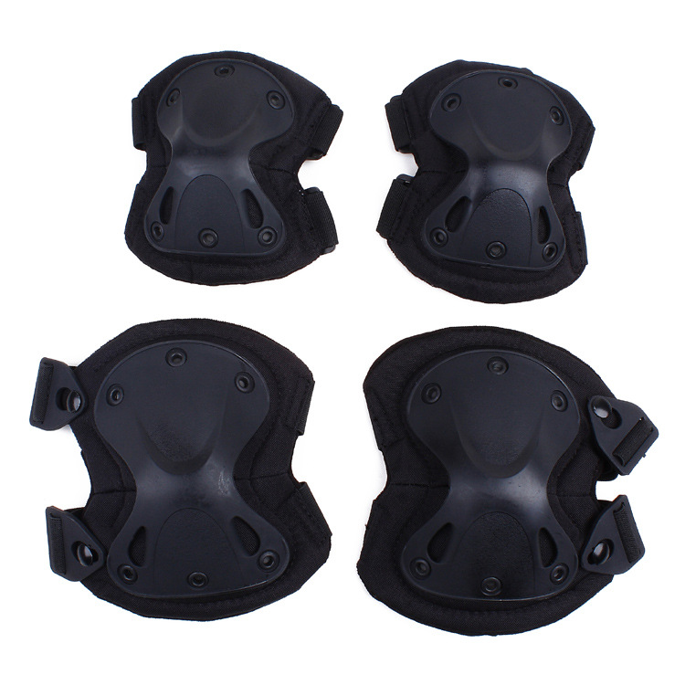4pcs/set Tactical Paintball Protection Knee Pads & Elbow Pads Cycling Skate Sports Safety Protective Knee Pad