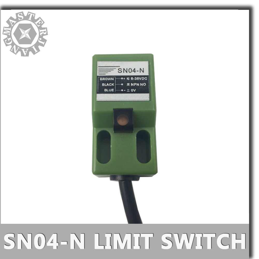 SN04-N Limit Switch DC6-36V cnc router CO2 laser emergency stop sn04n 4mm Approach Sensor NPN 3 wire Inductive Proximity Switch.