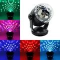 Mini RGB LED Ponteiro Laser Disco USB ou Pilhas Laser Projetor de Controle de Voz Luz do Estágio Do Partido Bar Padrão de Iluminação
