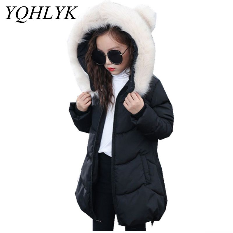 New Fashion Winter Cotton Girls Coat 2018 Korean Children Zipper Hooded Thick Warm Jacket Casual Sweet Kids Clothes 4-13Y W121 2016 autumn and winter fashion explosion models men s warm thick cotton korean slim casual jacket