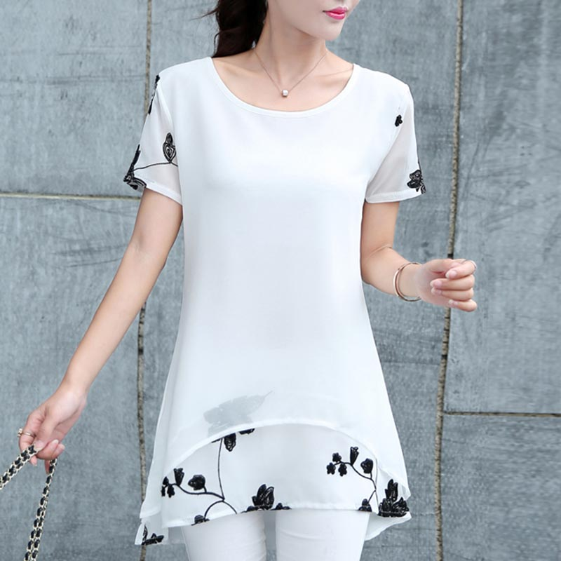 2019 Shirt Shirt Girls's Blouses Style Summer season Flowers Female Garments 4xl Massive Sizes Plus Measurement Chiffon Women Clothes B14 Blouses & Shirts, Low-cost Blouses & Shirts, 2019 Shirt...