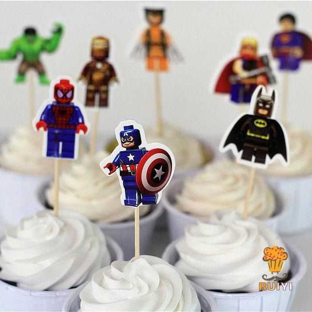 LEGO Cup Cake Toppers