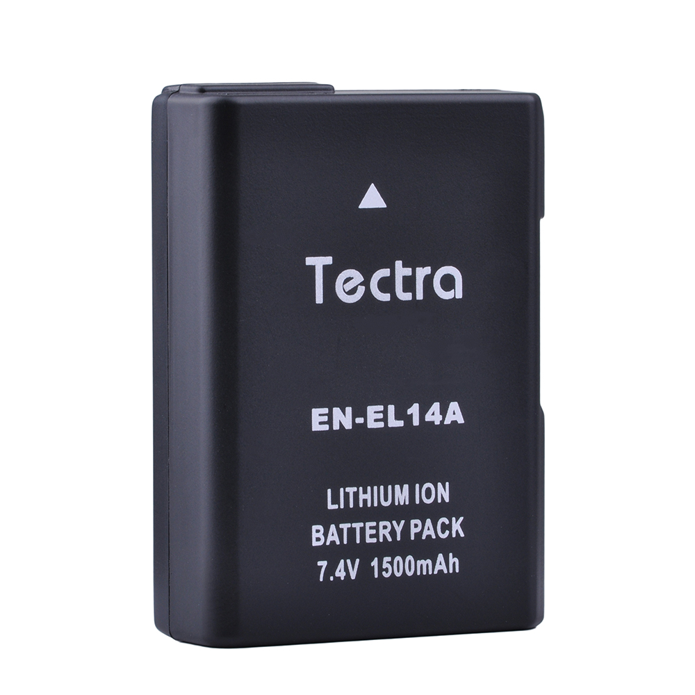 цена на Tectra 1500mAh 1PC EN-EL14 EN-EL14a Battery for Nikon P7000 P7100 P7700 P7800 D3400 D3200 D3300 D5100 D5200 D5300 D5500 D5600