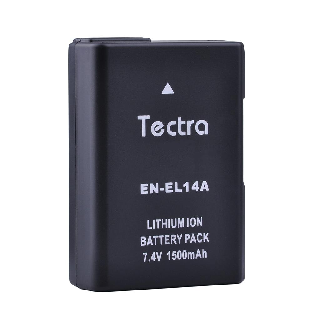 Tectra 1500mAh 1PC EN-EL14 EN-EL14a Battery for Nikon P7000 P7100 P7700 P7800 D3400 D3200 D3300 D5100 D5200 D5300 D5500 D5600 сумка для фотокамеры other nikon p7000 p7100 p7700 p7800