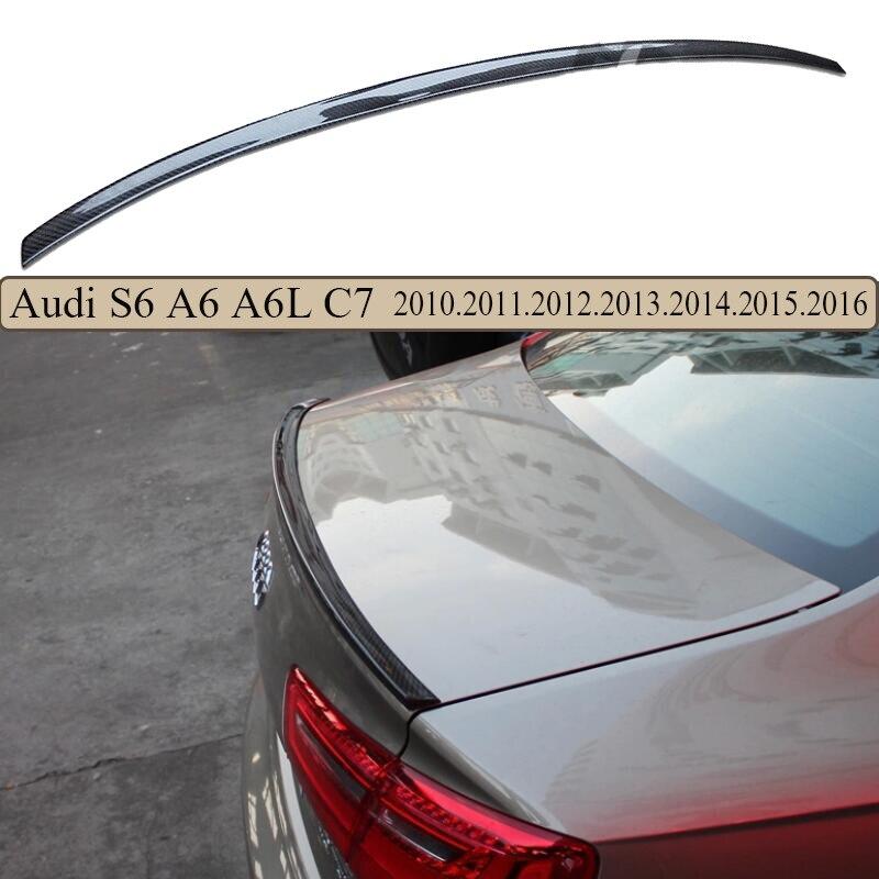 Haute Qualité Spoiler En Fiber De Carbone Pour Audi A6 A6L S6 C7 2013 2014 2015 2016 Spoilers arrière