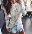 sexy white floral lace bodysuit
