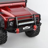 RC 1/10 Metal Front Bumper & LED Light for 1/10 RC Crawler Car Traxxas TRX 4 TRX4 Axial SCX10 & SCX10 II 90046 90047