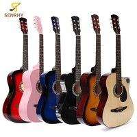 38 Inch 18 Frets Basswood Back Maple Wood Fingerboard Folk Acoustic Guitarra Electric Bass Guitar Ukulele