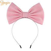 d9008aae397 7   Large Bow Hairband For Girls 2019 Headbands Hair Accessories Kids Solid  Big Cotton