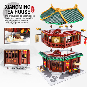 Image 5 - XINGBAO Zhonghua Street Chinatown Building Series The Toon Tea House Pub Set Building Blocks Bricks With Figure Kids Toys Gifts