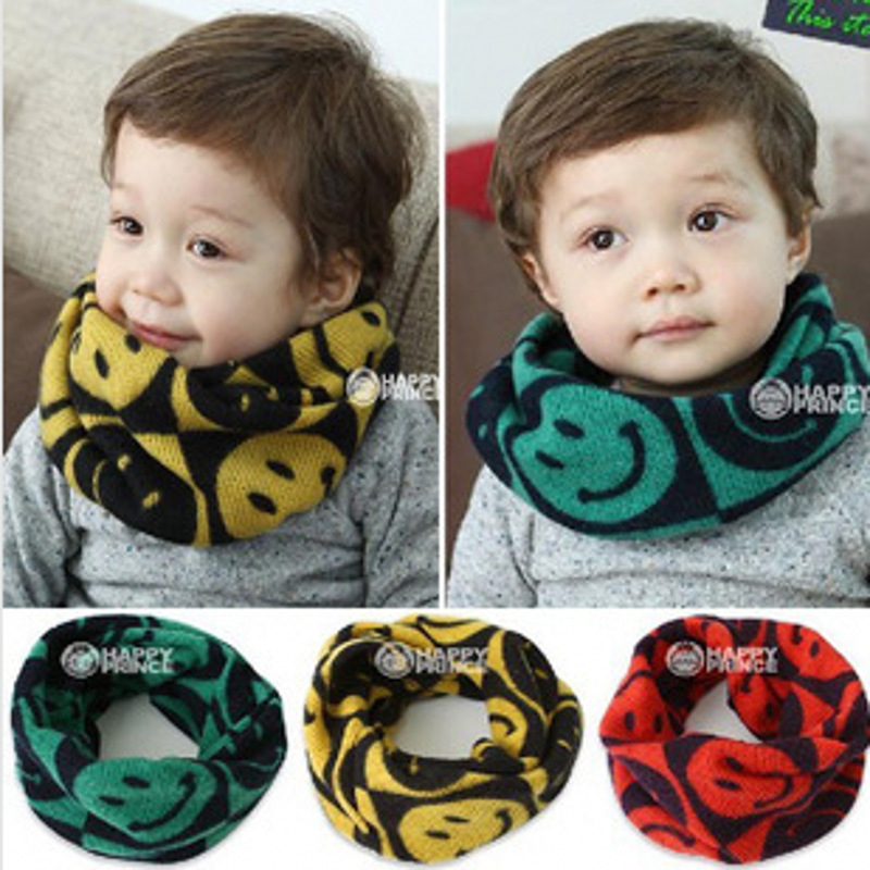 1-6 Years Old Winter Children Round Scarf Fashion Boys Girls Baby Neck Scarf Thickened Scarves Baby Boys Warm Scarves